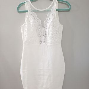 Lulu's White Lace Bodycon dress